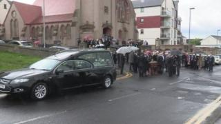 The service was held at Portstewart Presbyterian Church