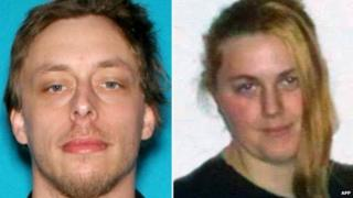 These images provided by the Las Vegas Metropolitan Police Department in Las Vegas, Nevada shows Jerad and Amanda Miller