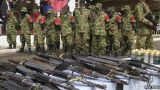 ELN members lay down arms. 07/2013