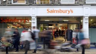 "A general view of a Sainsbury""s supermarket in Cambridge"