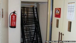 Blocked fire escape