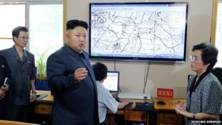 Kim Jong-un at the weather centre