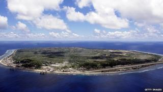 Nauru seen from the air