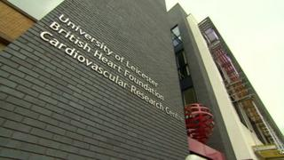 Front of the new research centre building