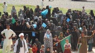Women supporting Abdullah Abdullah