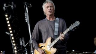 Paul Weller performing in 2013