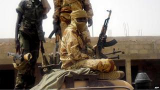 Chad peacekeeper in Mali (file photo)