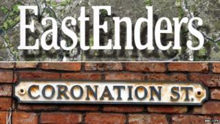 EastEnders and Coronation Street logos