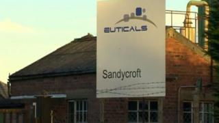 Euticals factory in Sandycroft