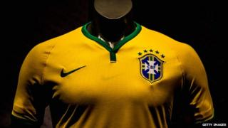 Brazil's latest football shirt