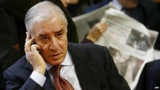 Former senator Marcello Dell'Utri in court during his appeal trial in December 2009