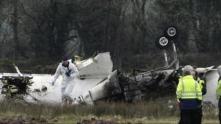 Six people died when the plane crashed in heavy fog in February 2011