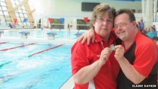 Elaine Daykin and her son, Richard Daykin