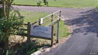 Entrance to campsite