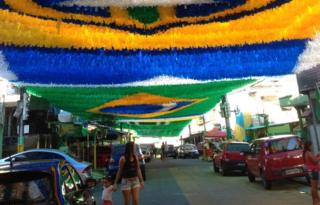 Decorations in Manaus street