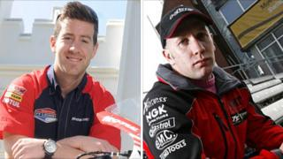 """Riders and fans paid their respects to Simon Andrews and Karl """"Bomber"""" Harris at Snetterton on Sunday"""