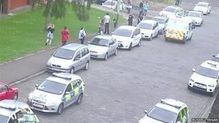 Police on Hilltown
