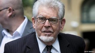 Rolf Harris arriving at court (16/6/14)
