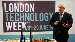 Boris Johnson at London Technology Week launch