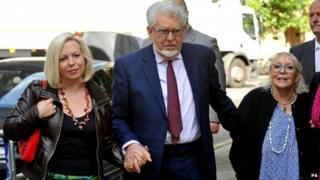 Rolf Harris with his daughter Bindi (left) and wife Alwen