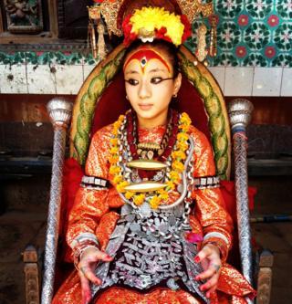 Nepal's living goddess who still has to do homework
