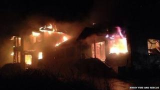 Plemont holiday camp fire. Pic: Jersey Fire and Rescue