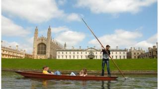 Students on the River Cam