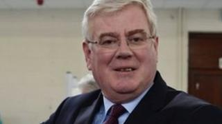 Eamon Gilmore casts his vote in Dublin last Friday