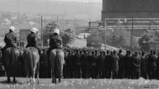 Police at Orgreave
