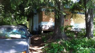 Photo shows the home of Beverly Mitchell in Cheshire, Conn 15 June 2014