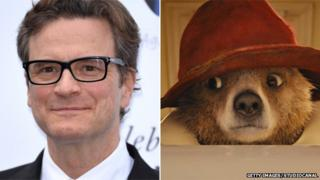 Colin Firth and Paddington Bear