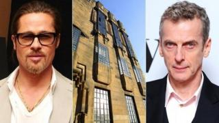 Brad Pitt, Glasgow School of Art and Peter Capaldi