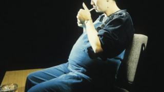 Pregnant woman smoking on BBC Horizon, 1991