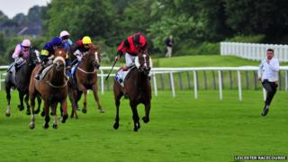 Riders at Leicester Racecourse
