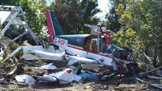 Plane crashed in a field near Guernsey Airport