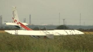 Crashed airplane