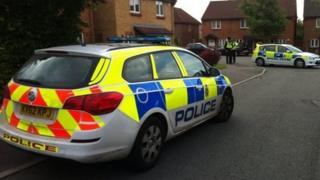 Police in Selkirk Street, Chaddesden