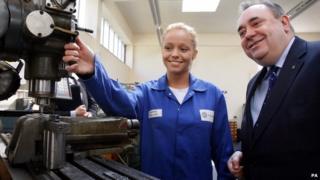 Alex Salmond and apprentice