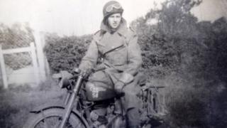 Gordon Prime when he was a dispatch rider