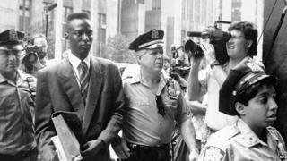 Wrongfully convicted Central Park jogger rapist Yusef Salaam, shown in 1990