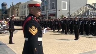 Marines from 40 Commando in Weston-super-Mare