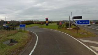 Stafford services slip road