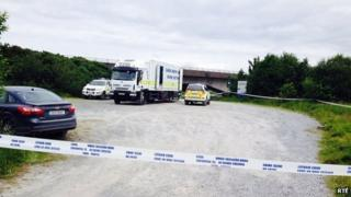 The area around Bogginfinn has been sealed-off by police