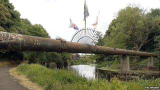 Lagan Towpath, where two men were attacked