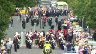 Soldiers on parade in Newtownards