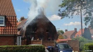 House fire on Heronswood Road, Welwyn Garden City