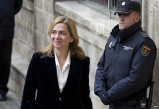 Princess Cristina in court in February 2014