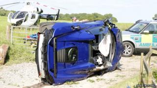 Crashed McLaren 650S
