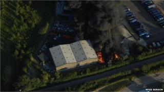 Ewelme waste centre fire