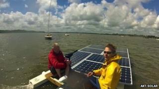 Simon Milward on boat
